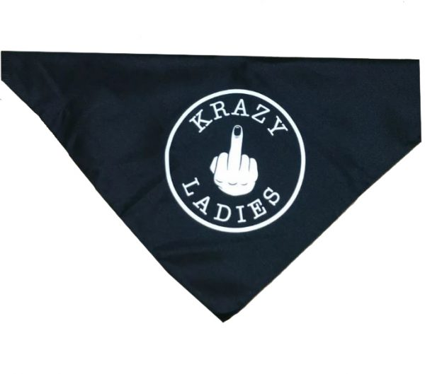 Krazy Ladies Black bandanna