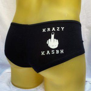 Krazy Kasbh Black Booty Shorts