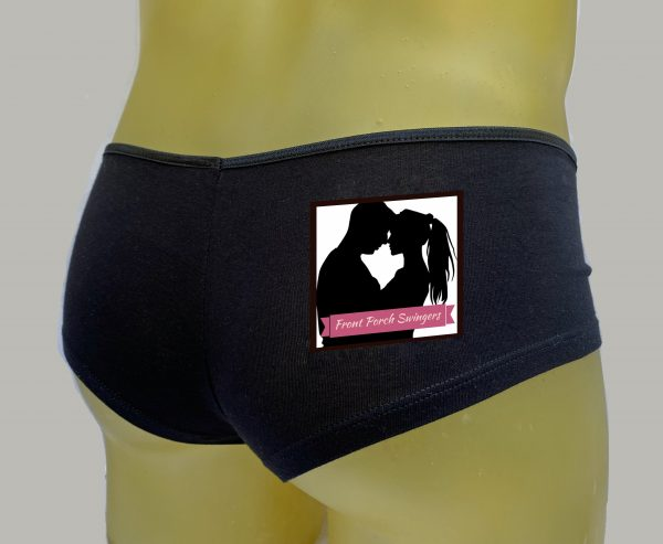 Front Porch Swingers Black Booty Shorts Full Logo