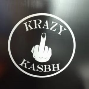 Krazy Kasbh Finger Window Sticker