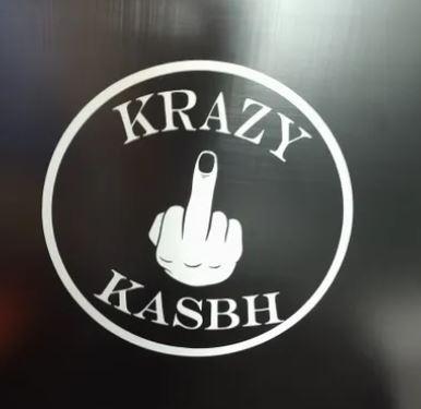 Krazy Kasbh Finger Window Sticker