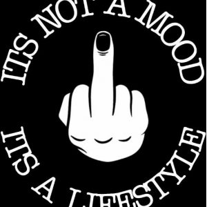 """It's Not A Mood It's A Lifestyle"" Window Sticker"
