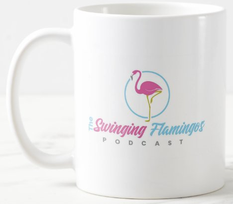 The Swinging Flamingos Coffee Mug