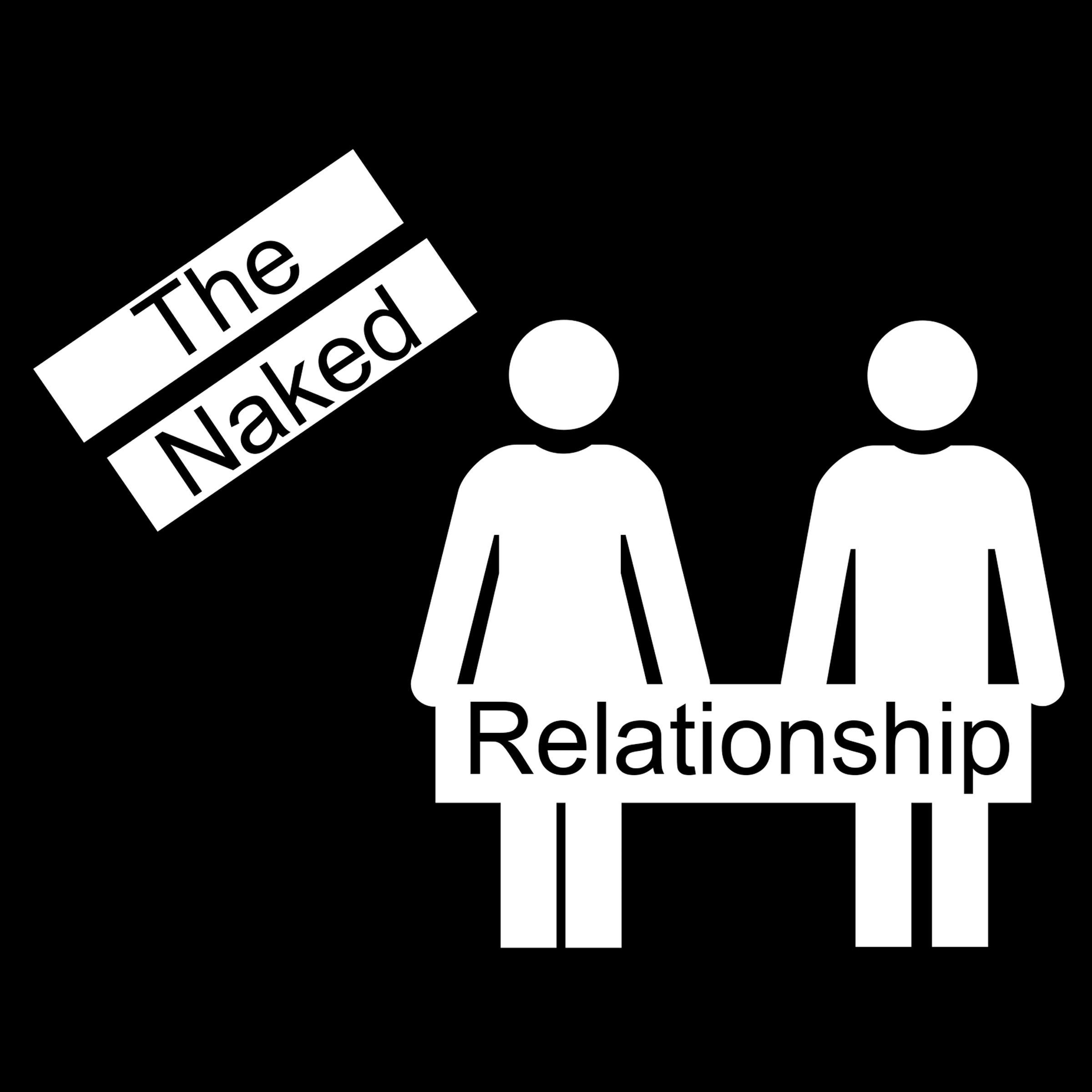 """The Naked Relationship 8"""" x 8"""" Window Sticker"""