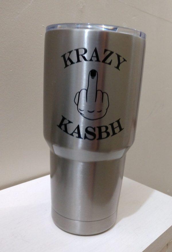 Krazy Kasbh 20 oz Tumbler