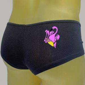 The Swinging Flamingos Black Booty Shorts