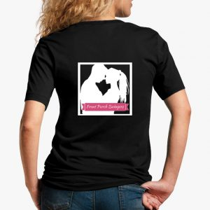Front Porch Swingers Black Unisex T-Shirt White Logo