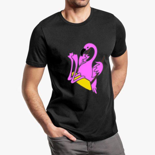 The Swinging Flamingos Black Unisex T-Shirt