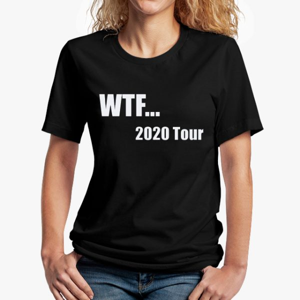 WTF 2020 COVID black unisex tshirt - lady front example