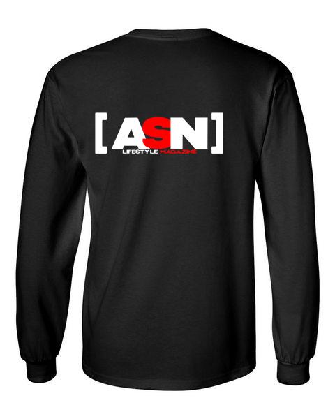 ASN Lifestyle Magazine black back long sleeve t-shirt