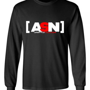 ASN Lifestyle Magazineblack font long sleeve t-shirt