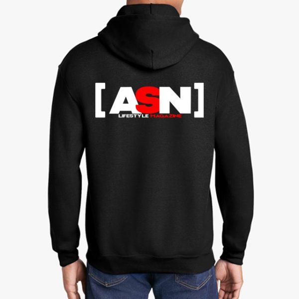 ASN Lifestyle Magazineblack hoodie back