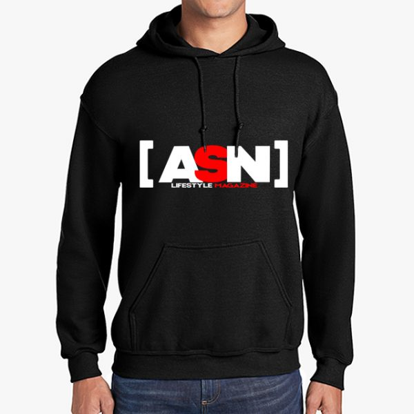 ASN Lifestyle Magazineblack hoodie front middle