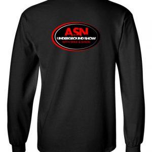 ASN Lifestyle Magazineunderground show black back long sleeve t-shirt