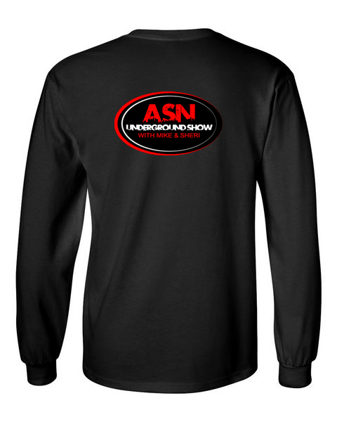 ASN Lifestyle Magazineunderground show black back long sleeve t-shirt