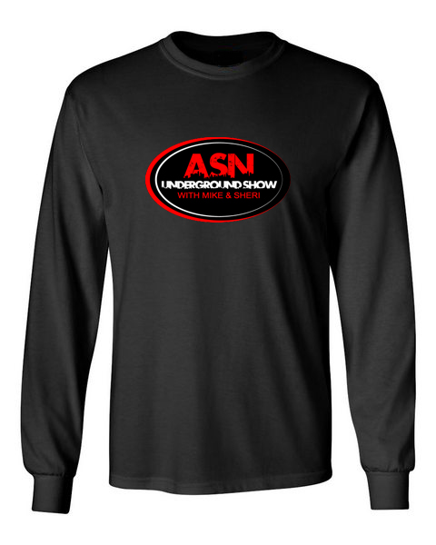 ASN Lifestyle Magazineunderground show black front long sleeve t-shirt