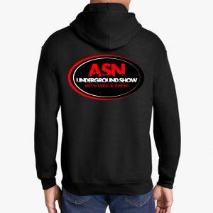 ASN Lifestyle Magazineunderground show black hoodie back