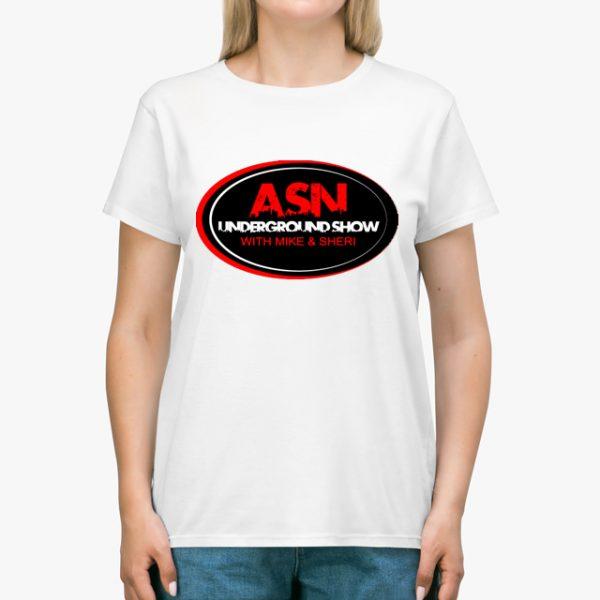 ASN Lifestyle Magazine underground show white unisex tshirt lady example