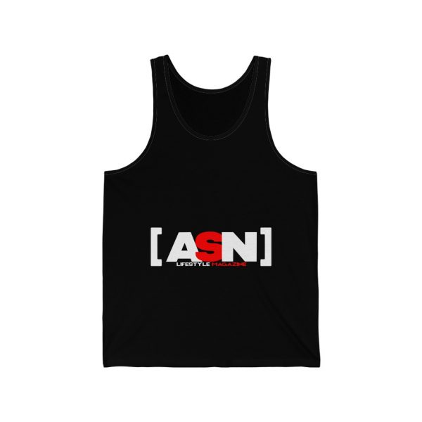 ASN Lifestyle Magazine black unisex jersey tank