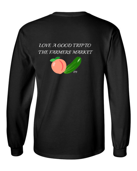 Farmers Market black back long sleeve t-shirt