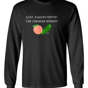 Farmers Market black front long sleeve t-shirt