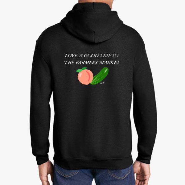 Farmers Market black hoodie back