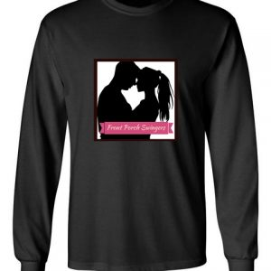 Front Porch Swingers black front long sleeve t-shirt