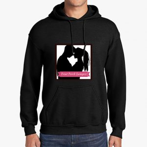 Front Porch Swingers black hoodie front