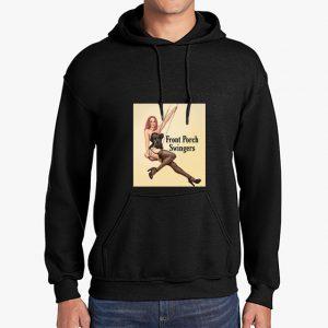 front porch swingers black hoodie front