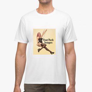 front porch swingers white unisex tshirt man