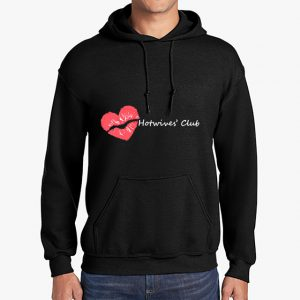 Hot Wives Club black hoodie front