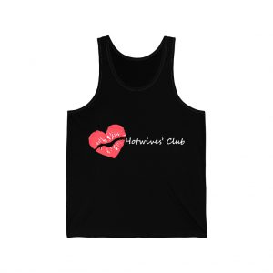 Hot Wives Club black unisex jersey tank