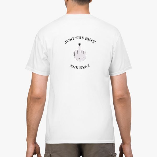 Just the Best white unisex t-shirt