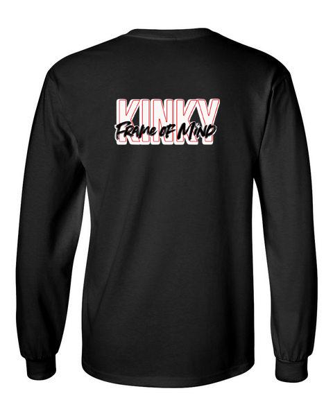 Kinky Frame of Mind black back long sleeve t-shirt