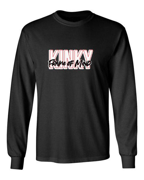 Kinky Frame of Mind black front long sleeve t-shirt