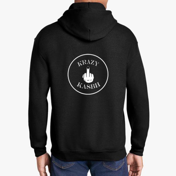 Krazy Kasbh black hoodie back