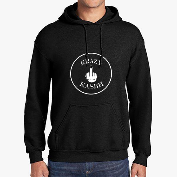 Krazy Kasbh black hoodie front