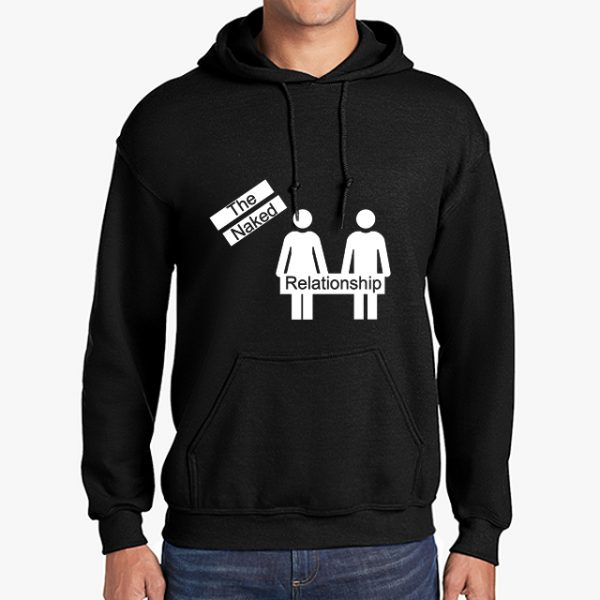 The Naked Relationship black hoodie front