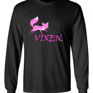 Vixen black front long sleeve t-shirt