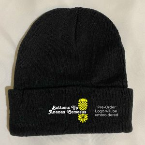 The Upsidedown Pineapple Bottoms Up Black Beanie
