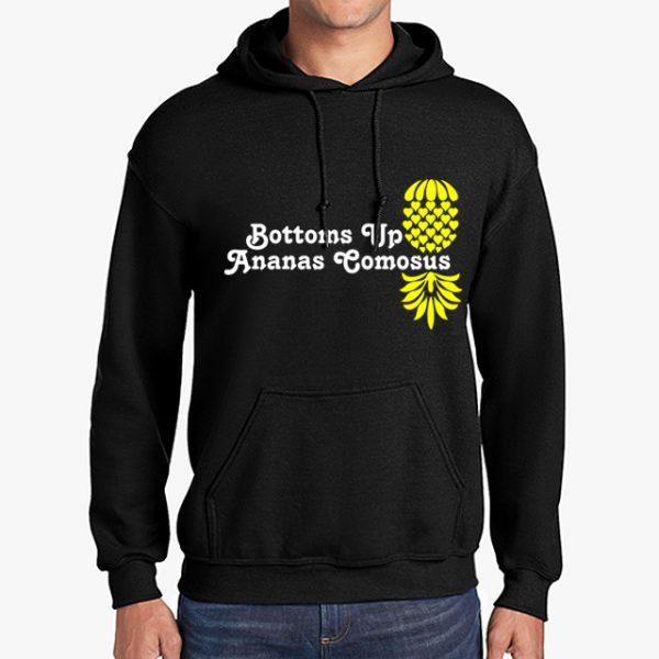 The Upsidedown Pineapple Bottoms Up Black Hoodie