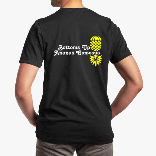 The Upsidedown Pineapple Bottoms Up Black Unisex T-Shirt