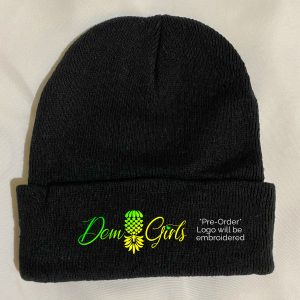 The Upsidedown Pineapple Dem Girls Black Beanie