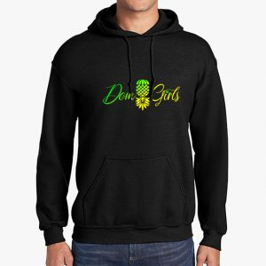 The Upsidedown Pineapple Dem Girls Black Hoodie