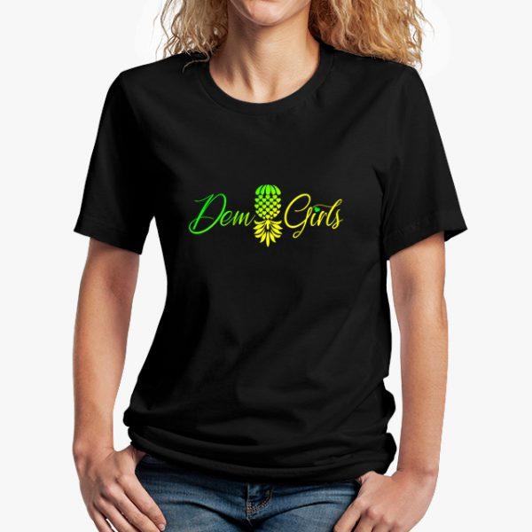 The Upsidedown Pineapple Dem Girls Black Unisex T-Shirt