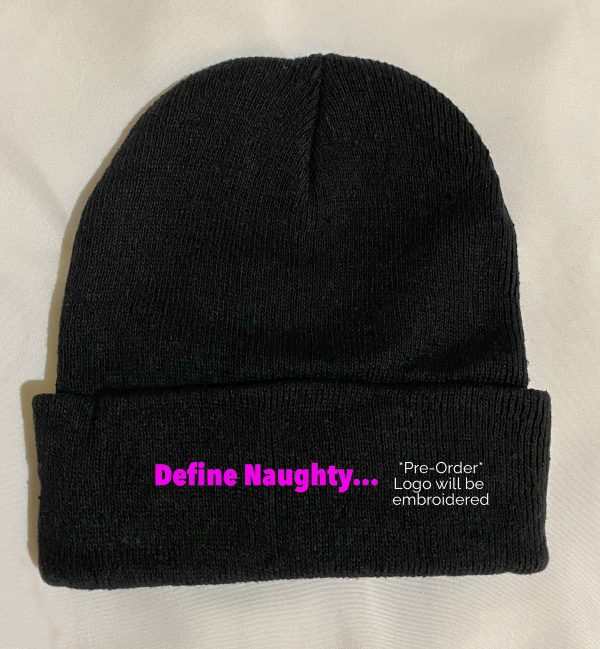 In Bed With Nikky Define Naughty Black Beanie