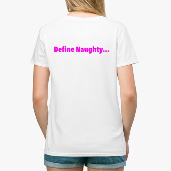 In Bed With Nikky Define Naughty Black Unisex T-Shirt