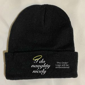 In Bed With Nikky I Do Naughty Nicely Black Beanie