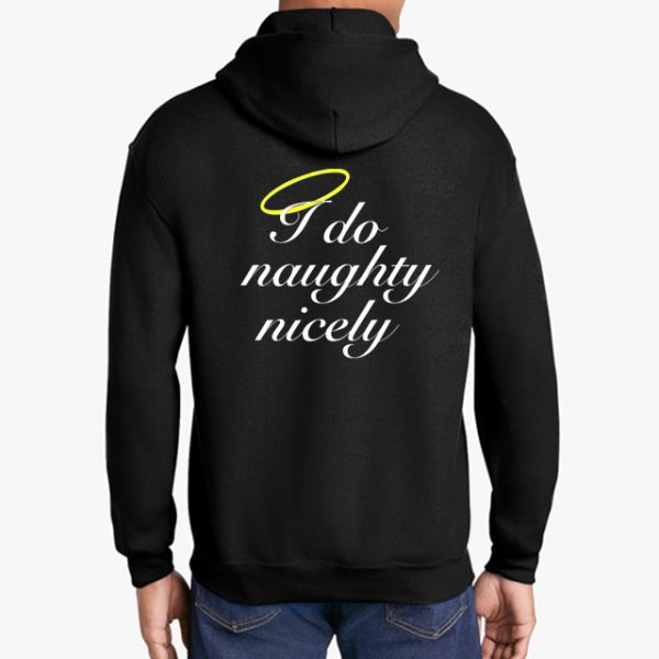 In Bed With Nikky I Do Naughty Nicely Black Hoodie