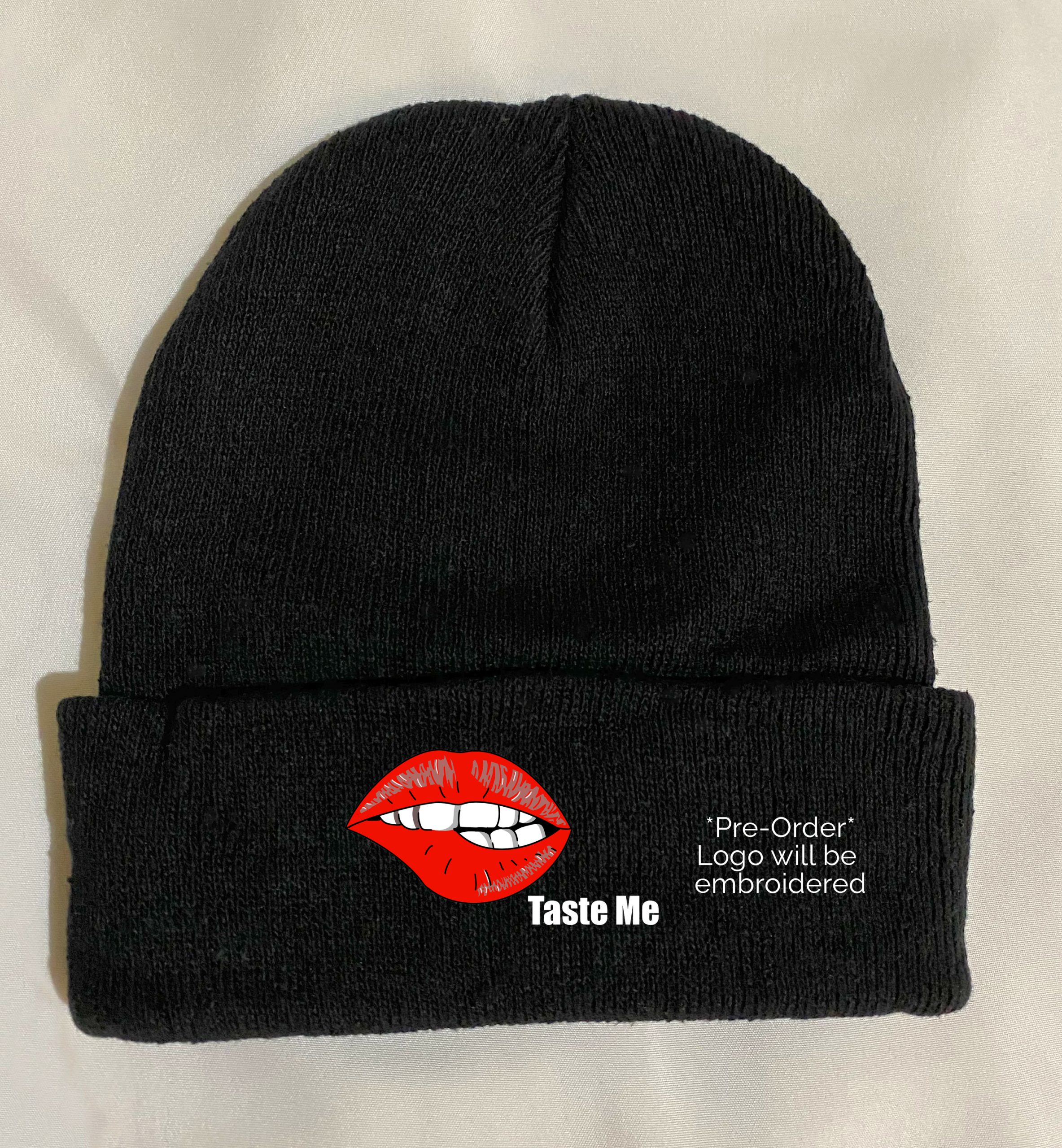 In Bed With Nikky Taste Me Black Beanie